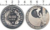 Изображение Монеты Турция 10000 лир 1988 Серебро Proof
