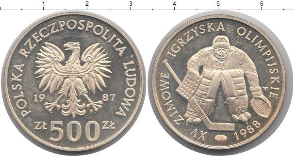 Картинка Монеты Польша 500 злотых Серебро 1987