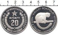 Изображение Монеты Мадагаскар 20 ариари 1988 Серебро UNC