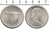 Изображение Монеты Канада 1 доллар 1967 Серебро XF Лебедь.Елизавета II