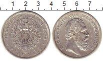 Изображение Монеты Вюртемберг 5 марок 1876 Серебро XF F   Карл