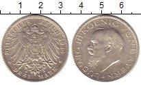 Изображение Монеты Германия Бавария 3 марки 1914 Серебро XF