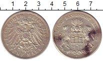 Изображение Монеты Гамбург 5 марок 1908 Серебро XF