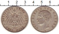 Изображение Монеты Германия Бавария 3 марки 1910 Серебро XF