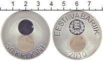 Изображение Монеты Эстония 50 крон 2010 Серебро XF