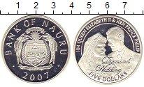 Изображение Монеты Науру 5 долларов 2007 Серебро UNC Брильянтовая свадьба