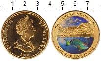 Изображение Монеты Остров Святой Елены 25 пенсов 2013 Латунь XF