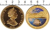 Изображение Монеты Остров Святой Елены 25 пенсов 2013 Латунь XF Морская жизнь остров