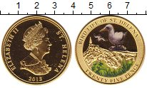 Изображение Монеты Великобритания Остров Святой Елены 25 пенсов 2013 Латунь XF
