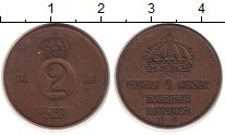 Изображение Монеты Швеция 2 эре 1953 Медь VF