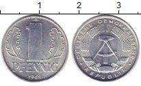 Изображение Монеты ГДР 1 пфенниг 1968 Алюминий XF Герб