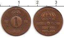 Изображение Монеты Швеция 1 эре 1954 Медь XF