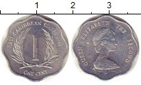 Изображение Монеты Карибы 1 цент 1981 Алюминий VF