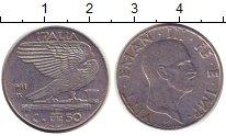 Изображение Монеты Италия 50 сентесим 1941 Медно-никель VF