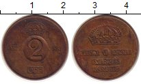 Изображение Монеты Швеция 2 эре 1953 Медь XF