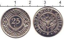 Изображение Монеты Антильские острова 25 центов 1990 Медно-никель XF