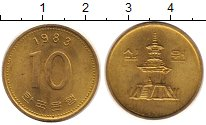 Изображение Монеты Южная Корея 10 вон 1983 Латунь VF