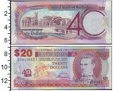 Изображение Банкноты Барбадос 20 долларов 2012  XF