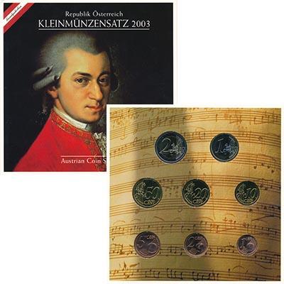 Изображение Подарочные монеты Австрия Австрия 2003 года 2003  UNC Набор из восьми моне