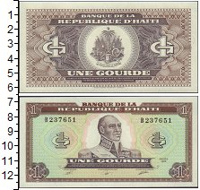 Изображение Банкноты Гаити 1 гурд 1989  UNC