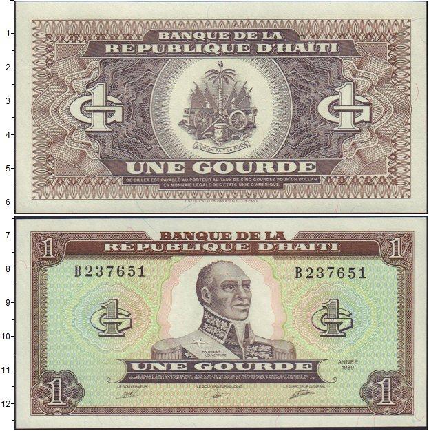 Картинка Банкноты Гаити 1 гурд  1989