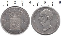 Изображение Монеты Нидерланды 2 гульдена 1847 Серебро XF
