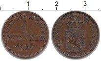 Изображение Монеты Гессен-Дармштадт 1 пфенниг 1867 Медь XF Людвиг III