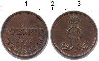 Изображение Монеты Германия Ганновер 1 пфенниг 1863 Медь XF