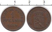 Изображение Монеты Германия Гессен-Дармштадт 1 пфенниг 1869 Медь XF