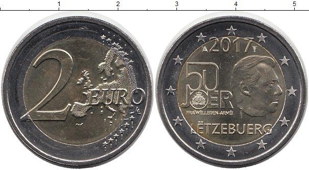 Картинка Мелочь Люксембург 2 евро Биметалл 2017