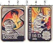 Изображение Монеты Андорра 10 динерс 2008 Серебро Proof Цифровая  печать.  Р