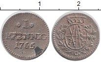 Изображение Монеты Саксония 1 пфенниг 1765 Серебро XF- Хавьер (принц-регент