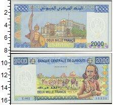 Изображение Банкноты Джибути 2.000 франков 2008  UNC Девушка в национальн