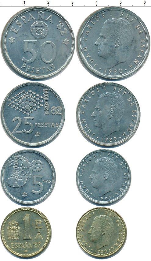 Монеты испания футбол 1982 цена
