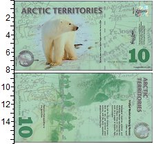 Изображение Банкноты Арктика 10 долларов 2010  UNC