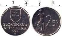 Изображение Монеты Словакия 2 кроны 2003 Медно-никель UNC