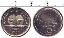 Изображение Монеты Папуа-Новая Гвинея 5 тоа 2005 Железо UNC