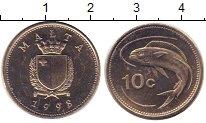 Изображение Монеты Мальта 10 центов 1998 Медно-никель UNC