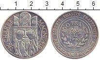 Изображение Монеты Франция 100 франков 1990 Серебро XF+ Карл  Великий