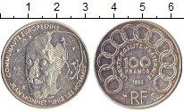 Изображение Монеты Франция 100 франков 1992 Серебро XF+