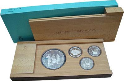 Изображение Подарочные наборы Испания Культура и природа 1995 Серебро Proof- `Набор из серии ``Ку