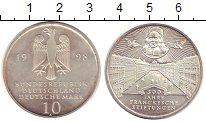 Изображение Монеты ФРГ 10 марок 1998 Серебро UNC- Монетный двор А. 300
