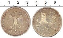 Изображение Монеты ФРГ 10 марок 1995 Серебро XF Монетный двор F. 800