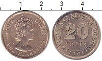 Изображение Монеты Малайя 20 центов 1961 Медно-никель UNC- Елизавета II