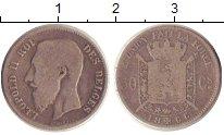 Изображение Монеты Бельгия 50 сантим 1866 Серебро VF