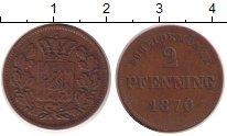 Изображение Монеты Бавария 2 пфеннига 1870 Медь XF-