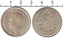 Изображение Монеты Великобритания 2 шиллинга 1944 Серебро XF+