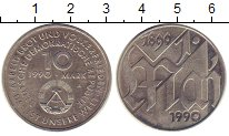 Изображение Монеты ГДР 10 марок 1990 Медно-никель UNC- 100  лет  Первомаю