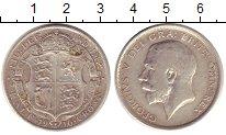 Изображение Монеты Великобритания 1/2 кроны 1916 Серебро XF-