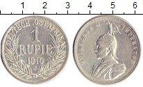 Изображение Монеты Германия Немецкая Африка 1 рупия 1910 Серебро XF